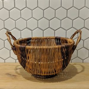 Mid Century Handwoven Basket